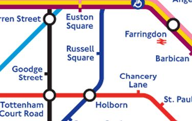 London Subway Map Russell Station.Underground Train Models