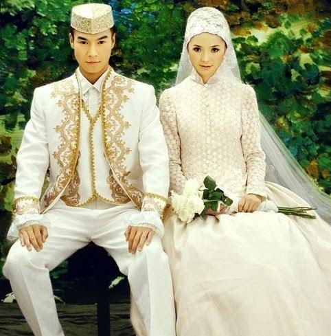 Baju Pengantin Muslim Syari Modern