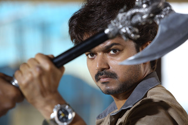 Actor vijay in Bairavaa Tamil movie latest pic