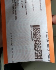 Gambar Boarding Pass