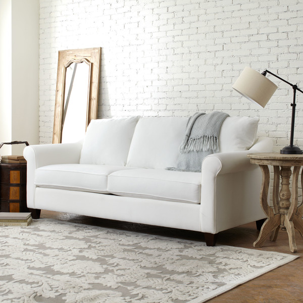 Pleasing Lisa Loves John The Low Down On The White Sofa Bralicious Painted Fabric Chair Ideas Braliciousco