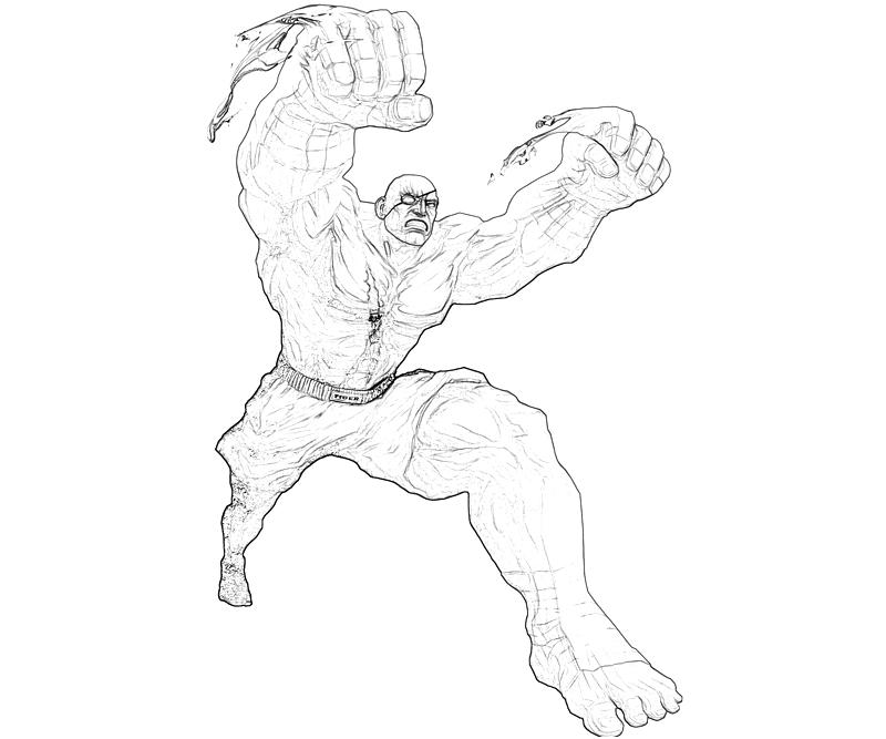 street fighter coloring pages - photo#38