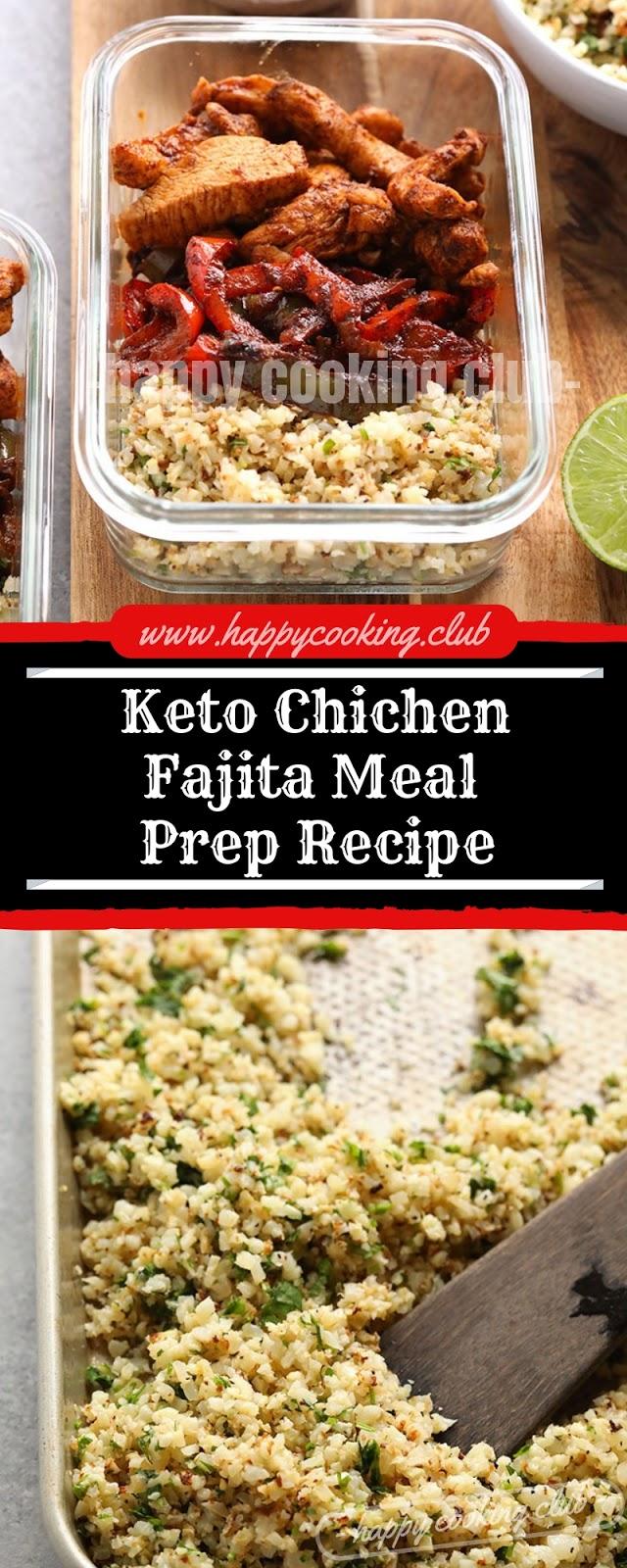 Keto Chichen Fajita Meal Prep Recipe