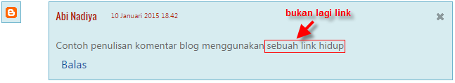 mengganti link aktif menjadi non aktif