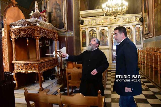 Έντονο ενδιαφέρον και επίσκεψη του Δημάρχου Ναυπλιέων για τις σοβαρές ζημιές στον Ναό του Αγίου Γεωργίου (βίντεο)