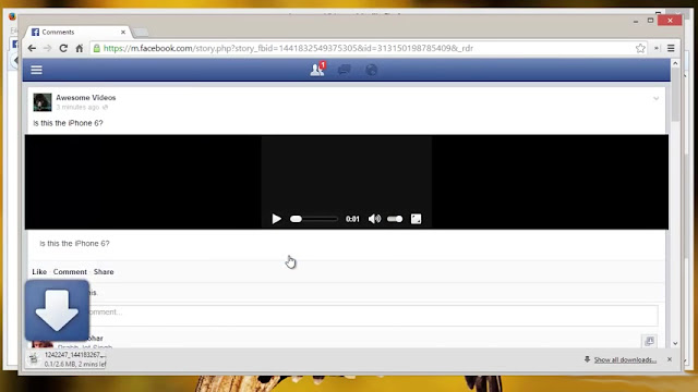 طريقة تحميل مقاطع الفيديو من الفيس بوك للأندرويد بدون برامج