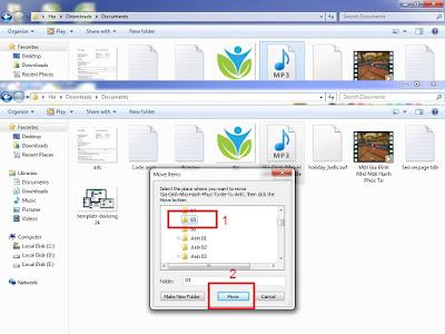 Di chuyển và Copy(Move & Copy) file và folder trong window 7