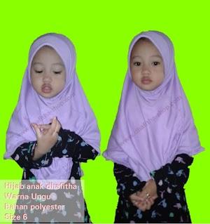 Hijab Instan Anak - Ungu (Dhafitha Ungu Size 6)