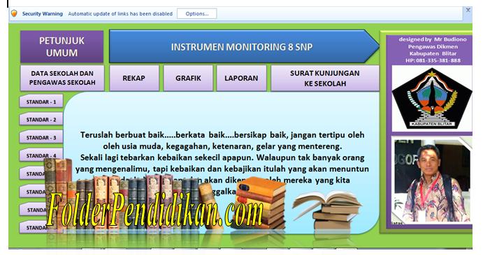 Aplikasi Instrumen Monitoring 8 Standar Nasional Pendidikan