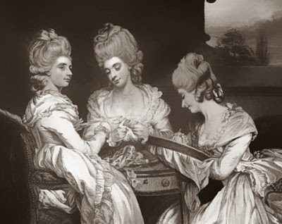Lady Maria Waldegrave, Laura Viscountess Chewton  and Lady Horatia Waldegrave