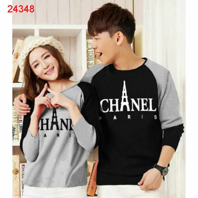 Jual Couple Lengan Panjang LP Chanel Paris - 24348