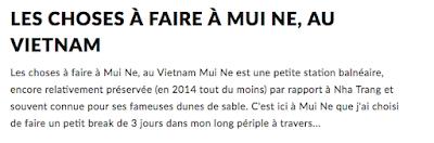 Les choses à faire à Mui Ne au Vietnam