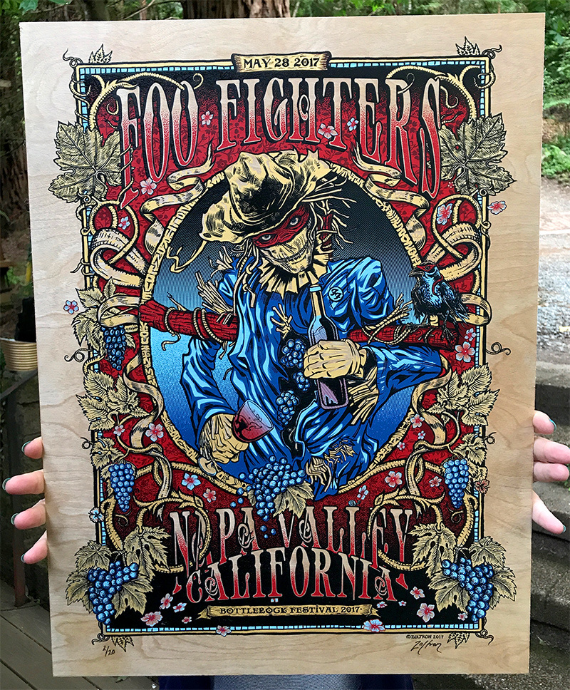 Inside The Rock Poster Frame Blog Foo Fighters Zoltron