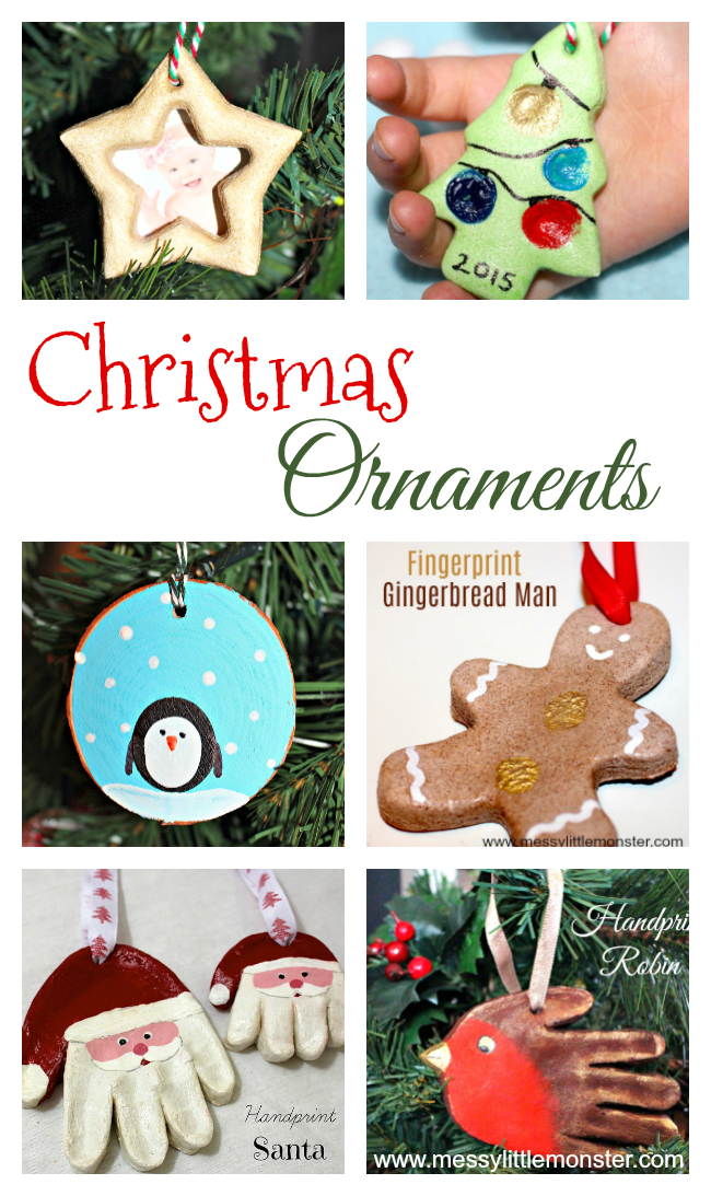 Diy Christmas Ornament Crafts For Kids Messy Little Monster