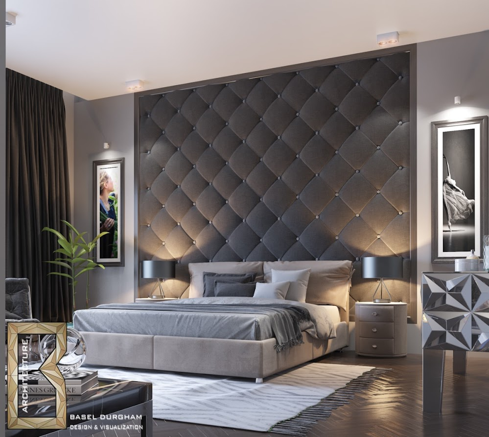 charcoal-quilted-bedroom-feature-modern-accent-wall-ideas