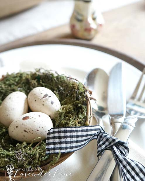 hand like Peeps and jellybeans in an egg basket ✘ 26+ Chic and Traditional Easter Decorating Ideas To DIY in 2020