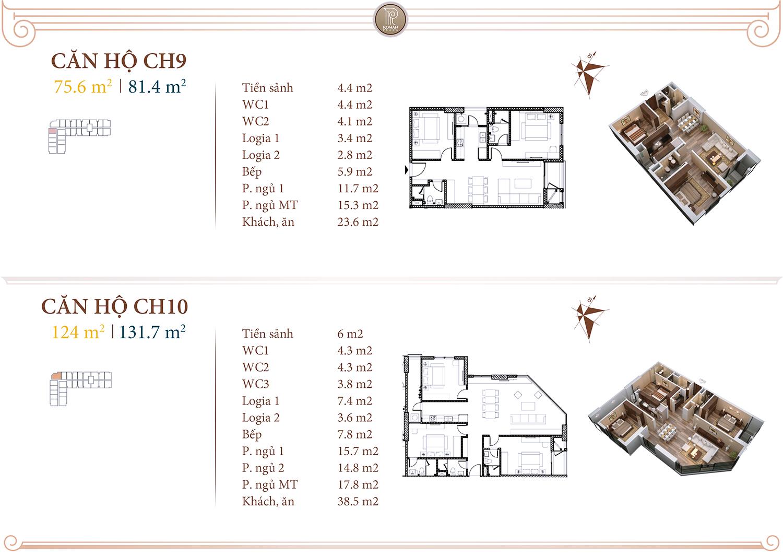 Chi tiết căn hộ 09 - 10 chung cư Hải Phát