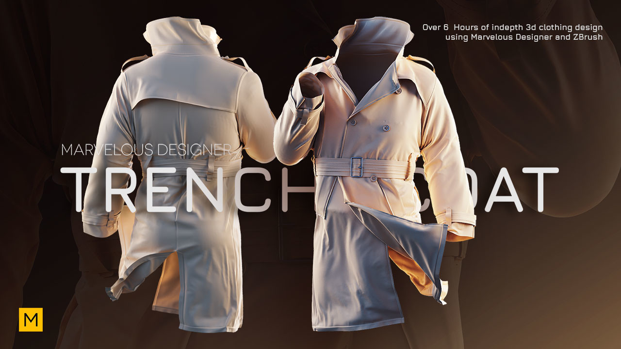 3D is my life: Gumroad - Creating a Trench coat using Marvelous