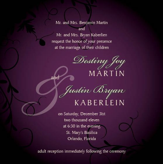 Ways Word Wedding Invitations