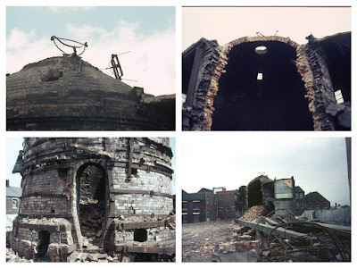 Longton Demolition of the Garfield Works Photos: Terry Woolliscroft Collection   Date: June 1975
