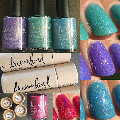 Dreamland Lacquer 2016 Spring Trio & DVT Awareness Month Polish