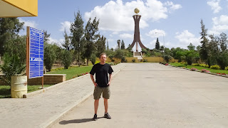 Me standing in front of the Martyr Tower