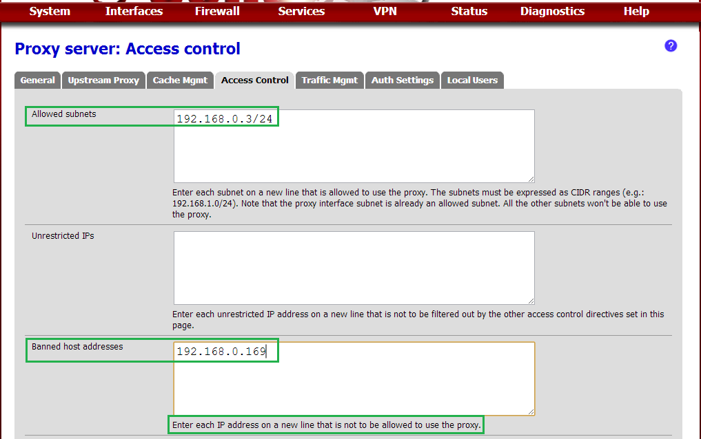 PFSense Solutions: Proxy Servers