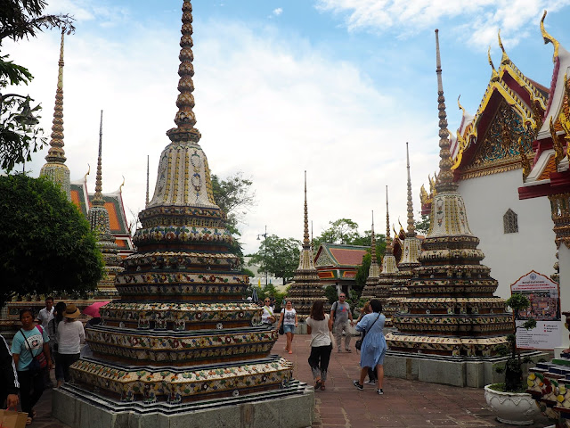 Inside the Wat Pho temple complex, Bangkok, Thailand