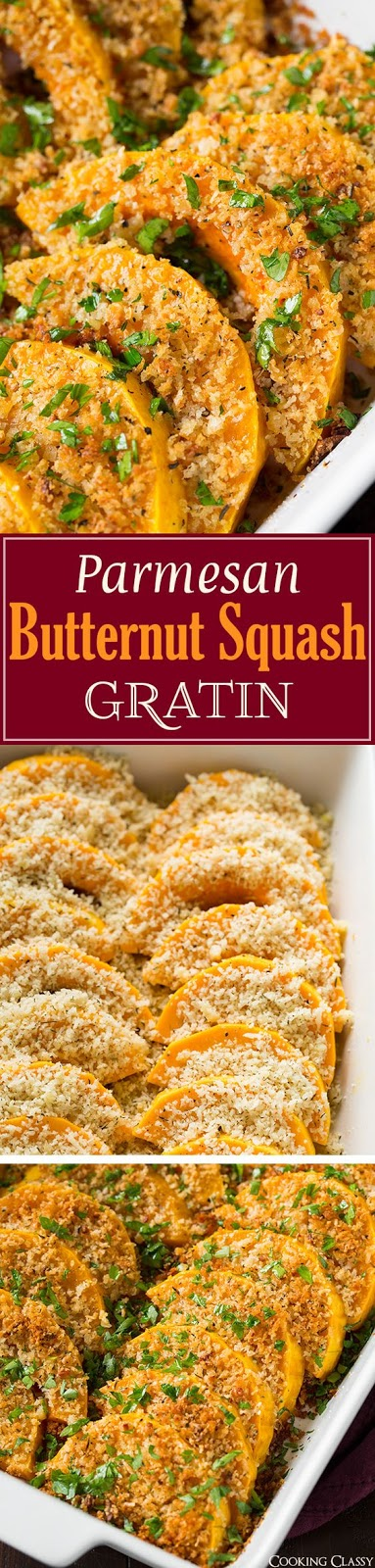Parmesan Butternut Squash Gratin
