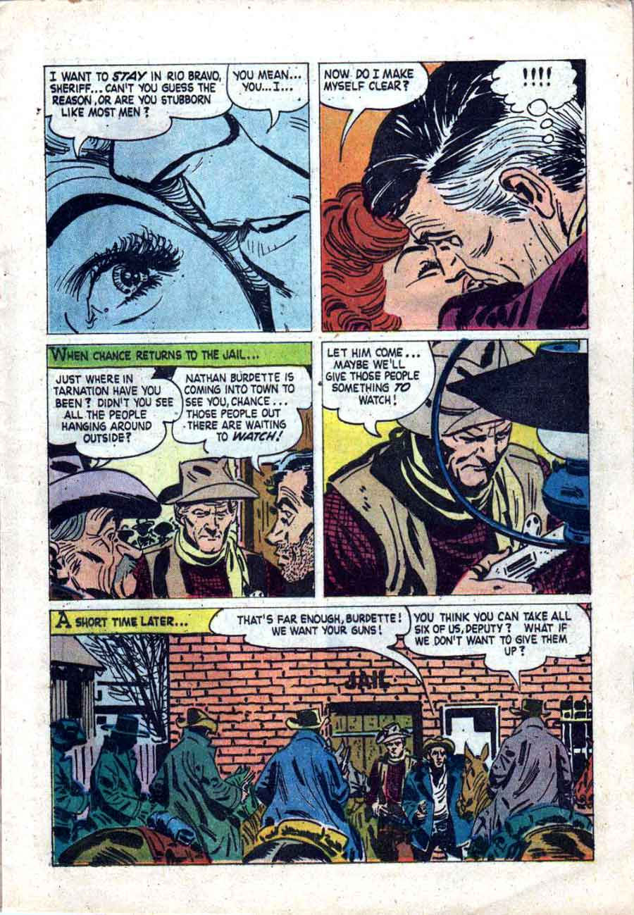 Rio Bravo / Four Color Comics #1018 dell western comic book page art by Alex Toth