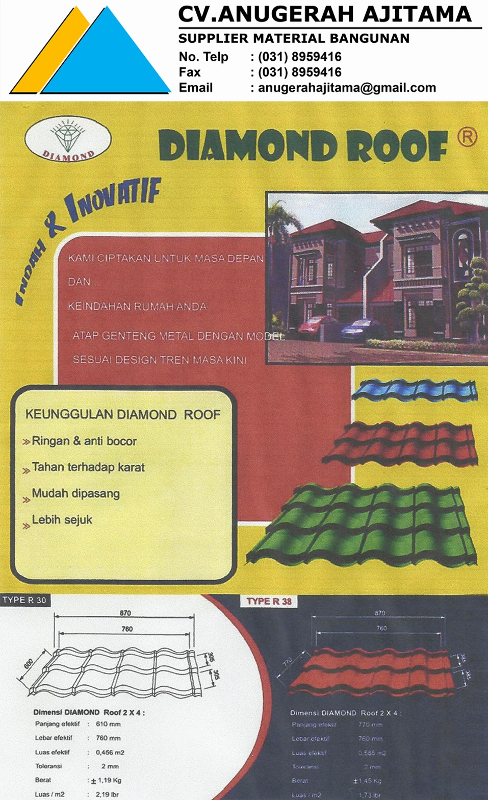 KATALOG GENTENG METAL DIAMOND ROOF