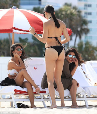 Priyanka Chopra and Adriana Lima put their bikini bodies on display at a beach in Miami