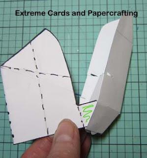 cat pop up card back assembly