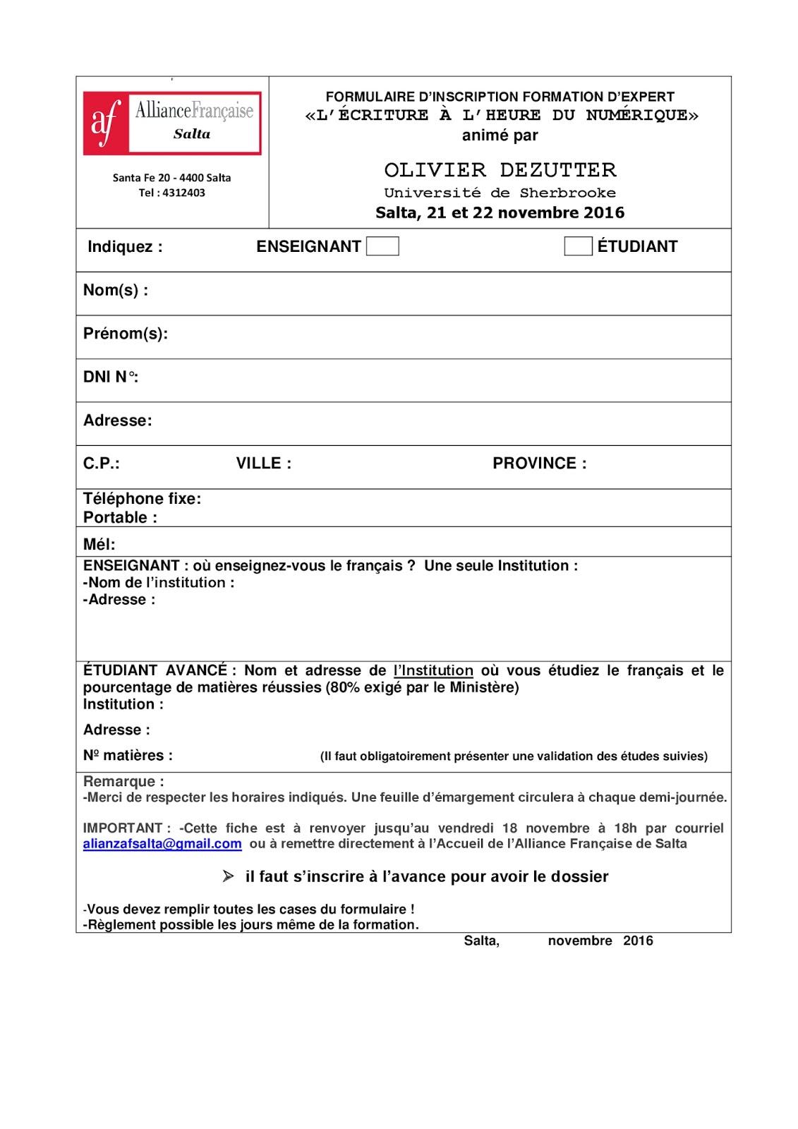 Asociación Sanjuanina De Profesores De Francés Formation L