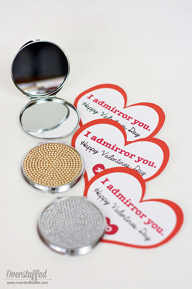 Valentine's Day printable | fun printable for your valentine | DIY valentine idea | I admirror you | from your secret admirer | mirror gift idea