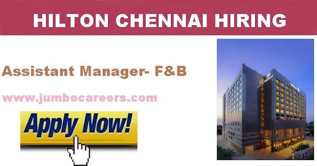 Hilton Hotel Chennair Job Openings, new jobs hilton chennai
