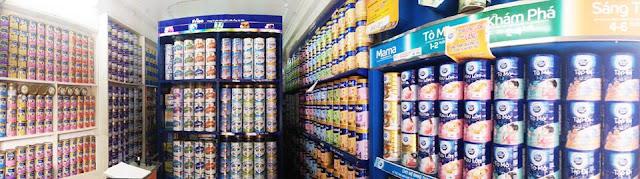 Hướng dẫn cách trưng bày cửa hàng sữa kích thích mua hàng