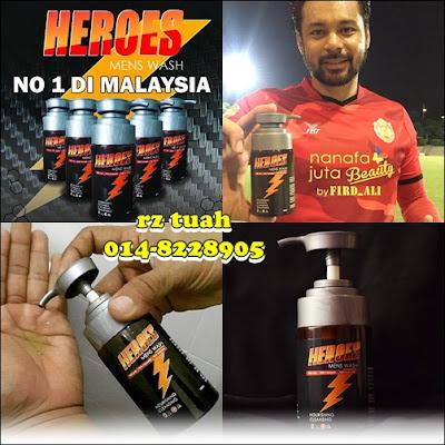 heroes men wash gel pembersih lelaki