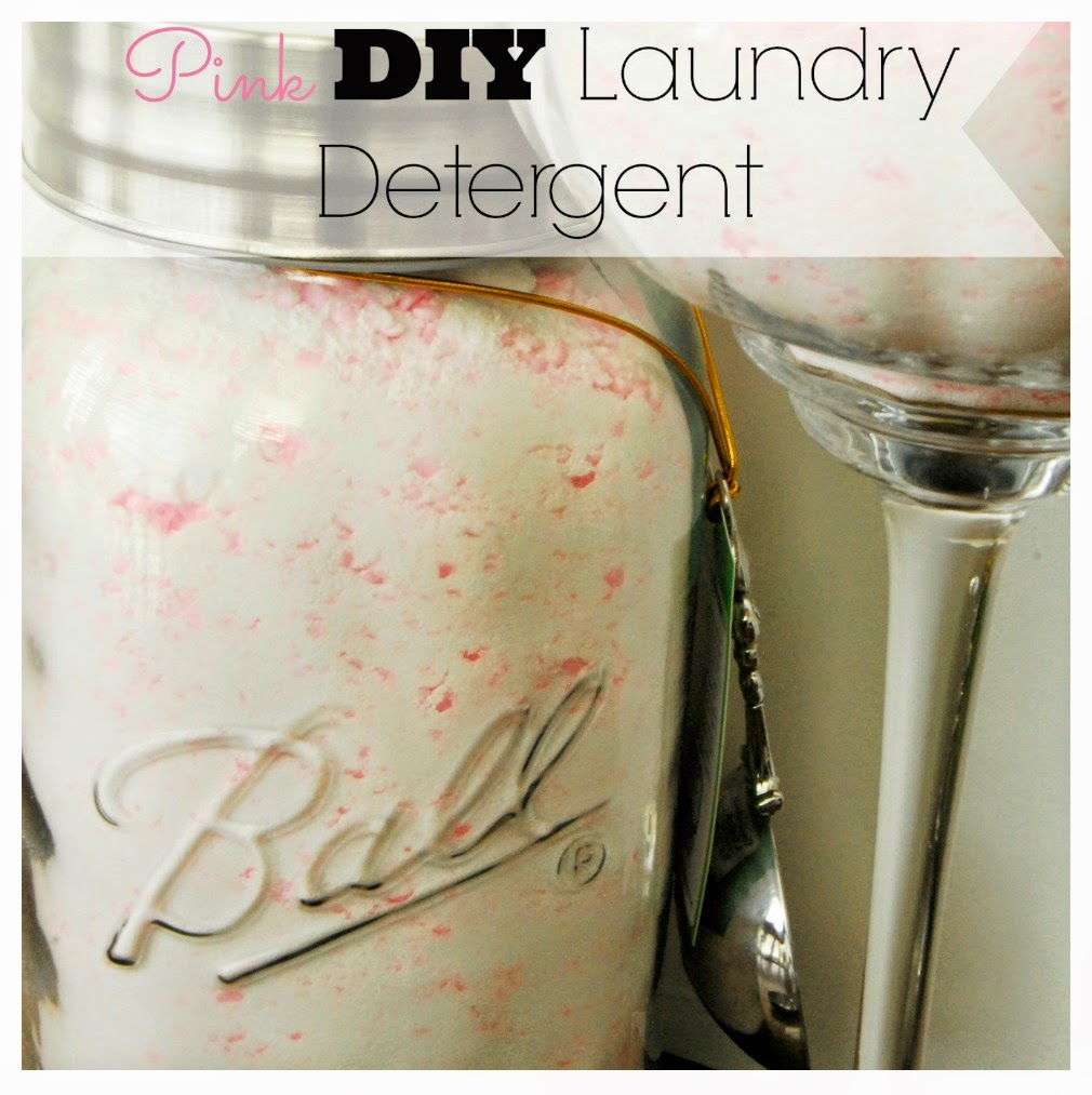 Pink DIY Laundry Soap