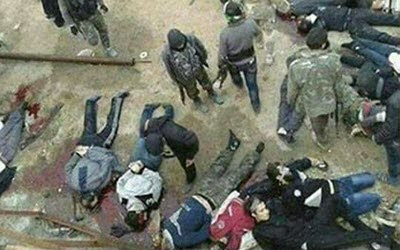 Street Execution of Civilians in Aleppo, Syria, December 2106