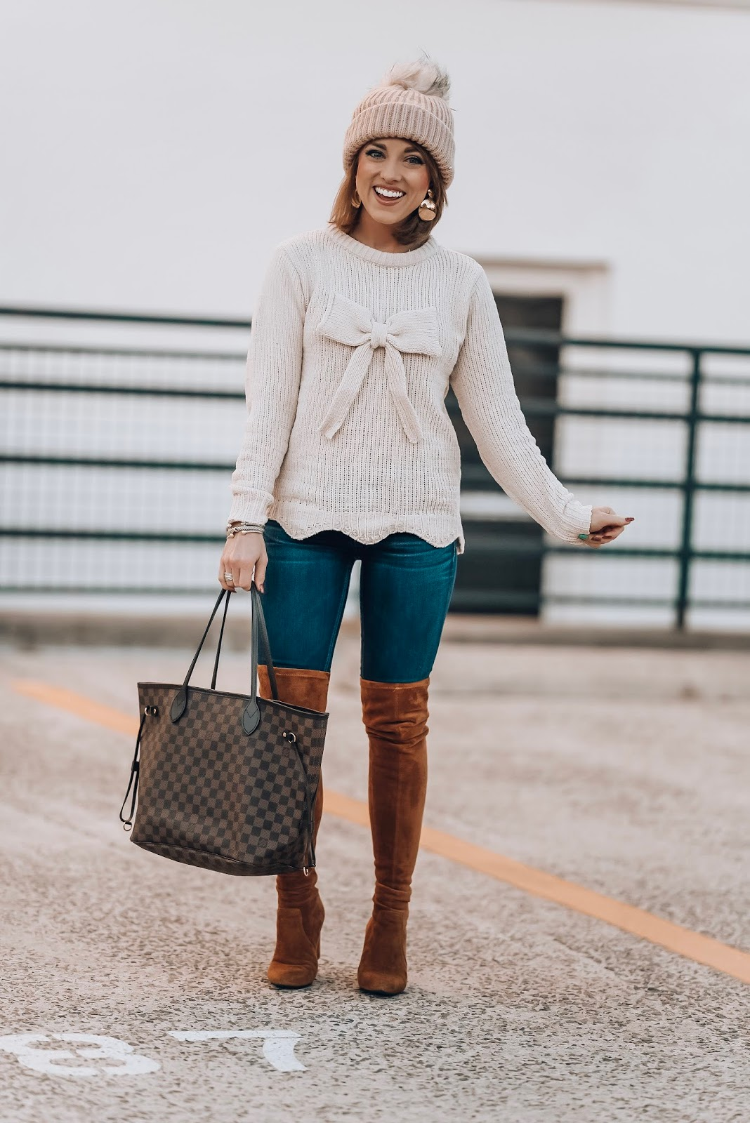 Scallop, Chenille Bow Sweater + 2019 Goals - Something Delightful Blog