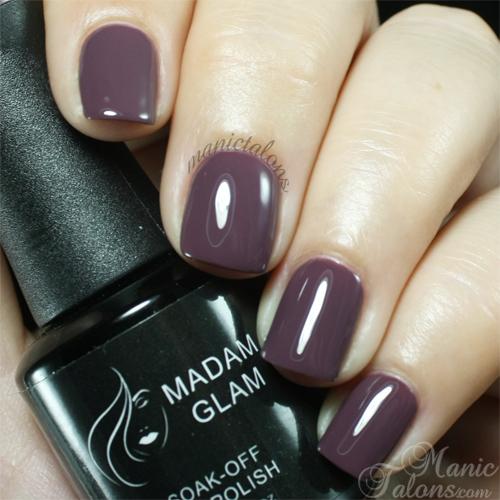 Madam Glam Gel Polish 180 Nightime Mauve Swatch