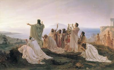 Pythagoreans celebrate sunrise, 1869 by Fyodor Bronnikov