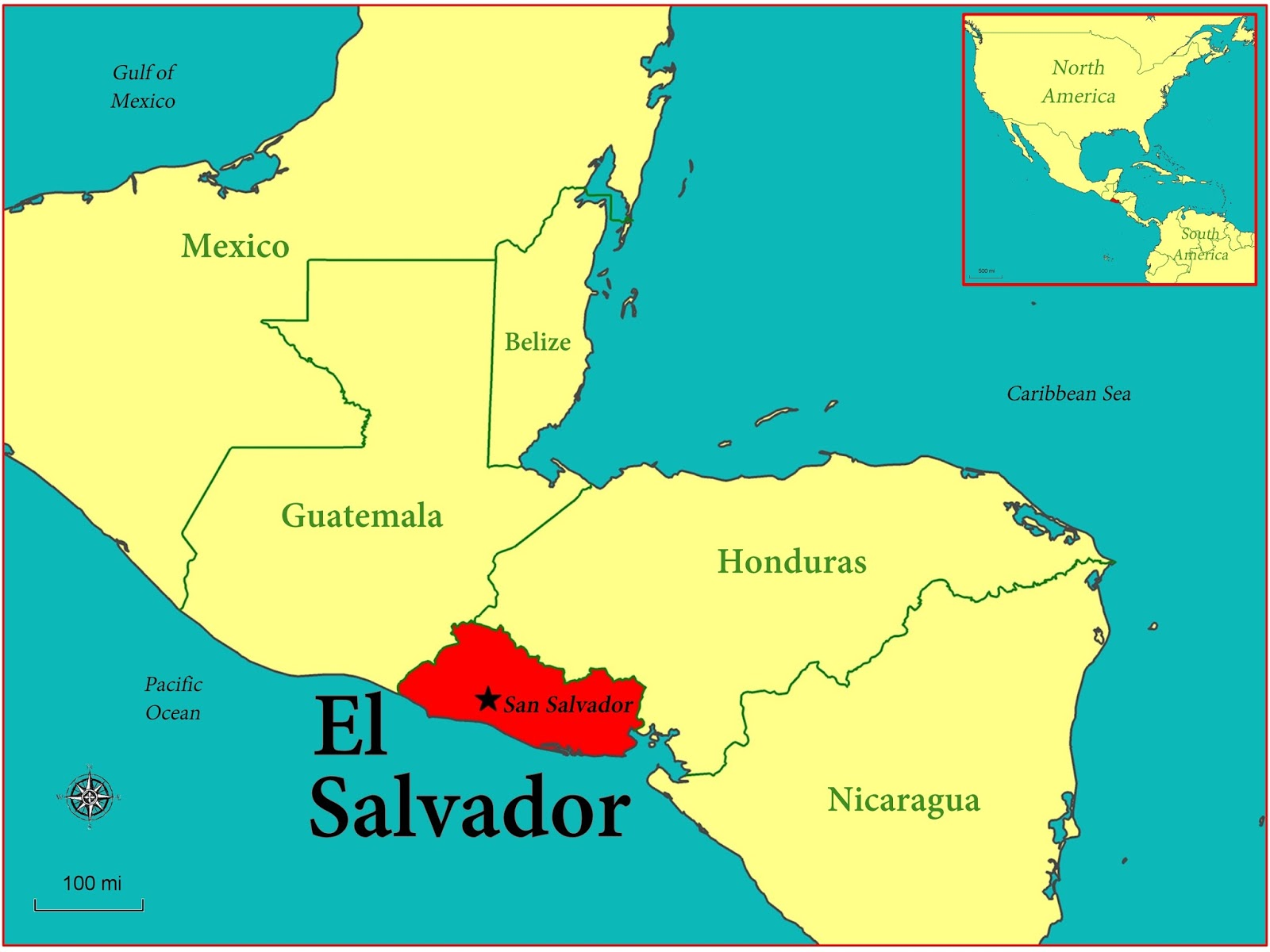 El Salvador On Map GIS Research and Map Collection: El Salvador and Immigration Maps  El Salvador On Map