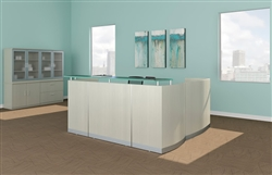 Mayline Medina Reception Desk from OfficeFurnitureDeals.com