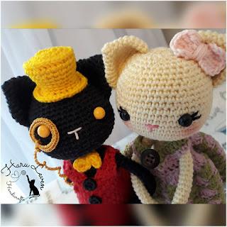 patron amigurumi Lady Clementine & Lord Jack haru leven handicrafts