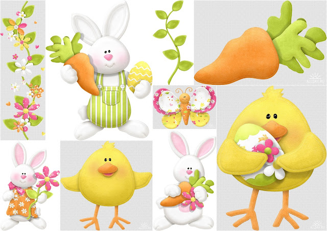 Spring Easter Clip Art. | Is it for PARTIES? Is it FREE? Is it ...