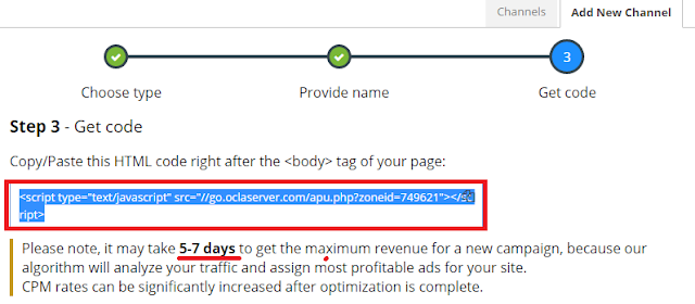 Cara Daftar, Verifikasi dan Pasang Iklan Propeller Ads