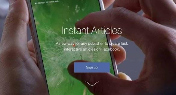 Yang Menarik Perhatian menjadi Publisher Instan Artikel Facebook
