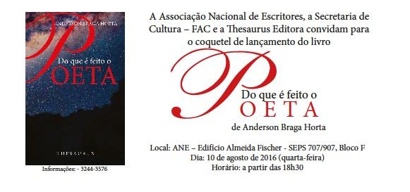 Convite do acadêmico Anderson Braga Horta